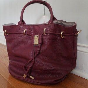 Wine colored tote bag